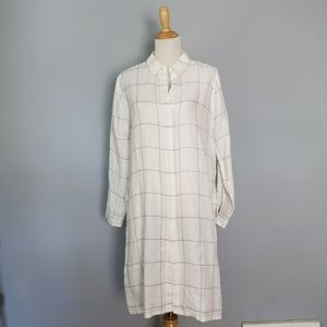 AYR White & Grey Linen Tunic Size Large